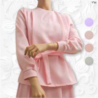 modest pleated blouse tznius