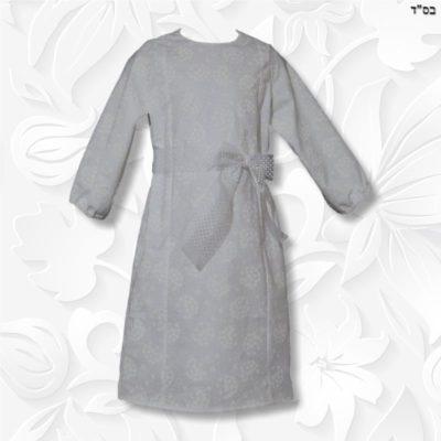 white modest dress princess panel