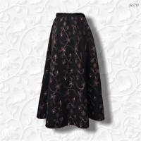 embroidered aline tznius skirt