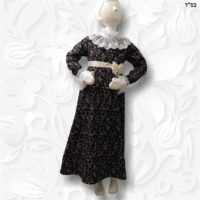 empire waist modest lace victorian dress