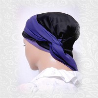 Purple Black Scarf Cotton Cap 010