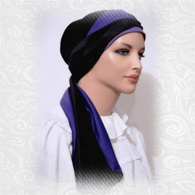 2-in-1 head scarf with cap