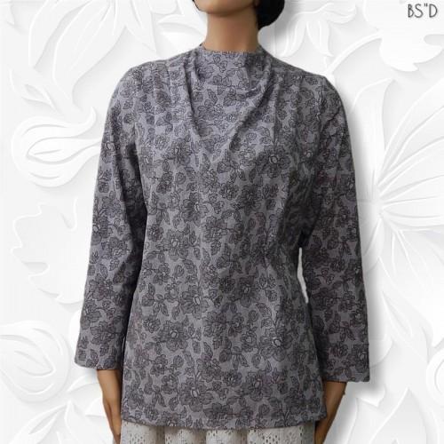 Cowl Neckline: Modest Cowl Neckline Blouse Summer Cotton
