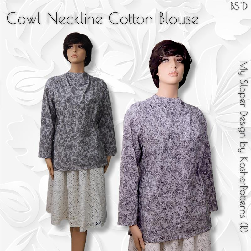 Cotton Cowl Neckline Blouse