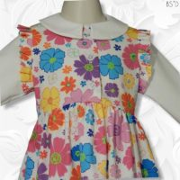 Faux Jumper Dress Floral 02