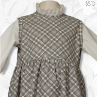 Faux Jumper Plaid Dress 03