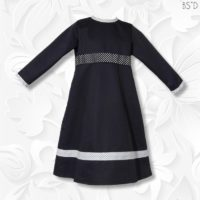 navy twill dress