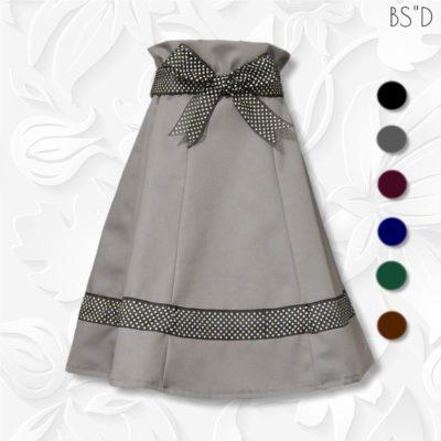 paperbag waist six panel skirt