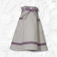 white paperbag waist skirt