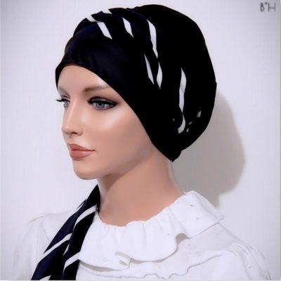 bias stripe head scarf moriya snood