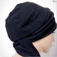Black Slink Metallic Moriya Snood Tails 06