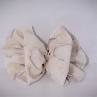 cotton hair bow barrette clip