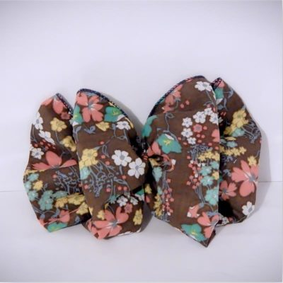 fluffy hair bow french barrette