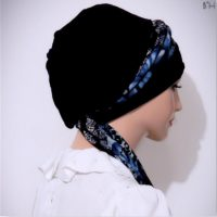 Navy Blue Print Moriya Snood 03