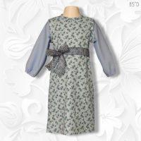 Princess Aline Style C Blue Floral Jumper Dress 01