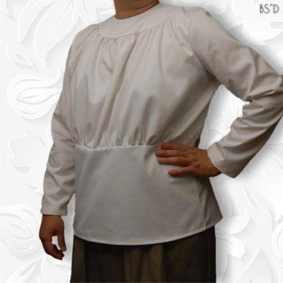 round yoke gathers blouse