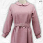 front-pleat-belted-gathered-waist-dress-pink-03