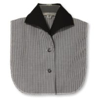 Byron Collar Black Gingham Dickey1