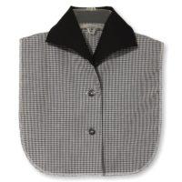 Byron Collar Black Gingham Dickey1