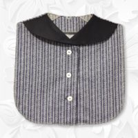 Front Collar Navy Stripe Dickey 1