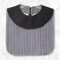 Navy Stripe Round Collar Dickey1