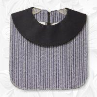 Navy Stripe Round Collar Dickey1