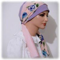 2017 Sinar Tichel Pink Floral Eyelet Purple Body 4