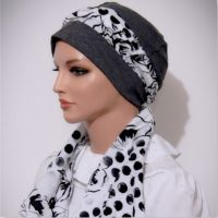 cotton moriya snood charcoal grey