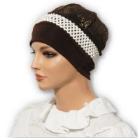 Brown Jacquard Cap