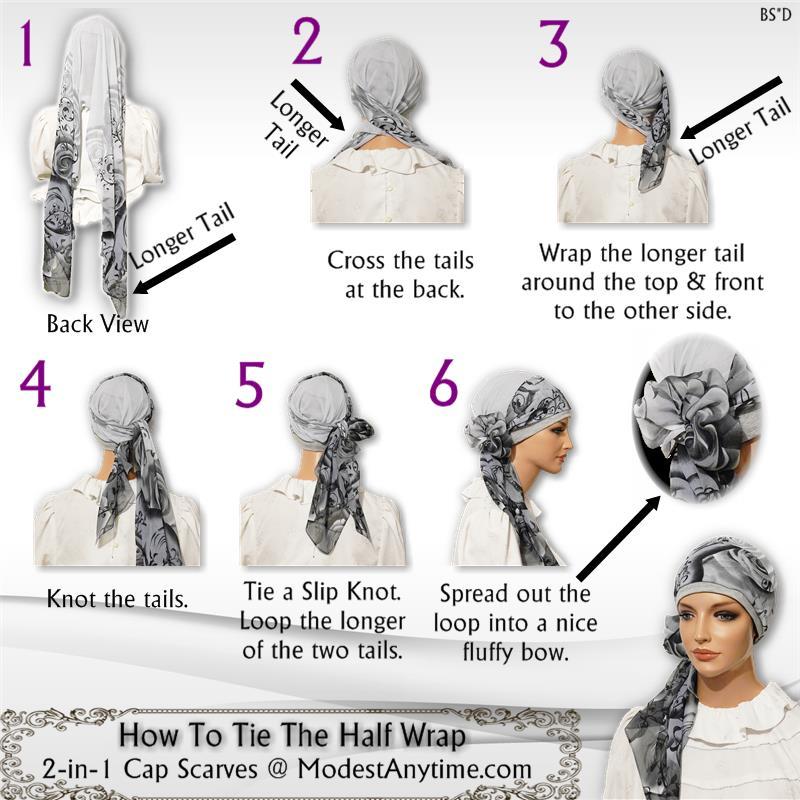 Half Wrap Chiffon Scarf 1