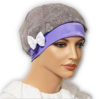 purple snood beret cap hat jacquard
