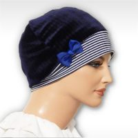 stripe snood beret