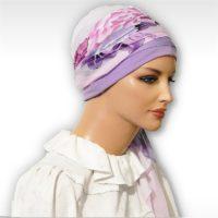Pink Purple Cherry Blossom Cap Scarf 05