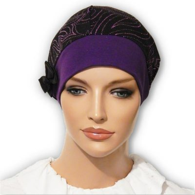purple snood beret cap hat