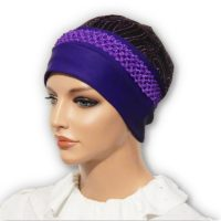 purple jacquard cap