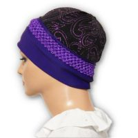 Purple Braided Trim Sparkle Cap 04