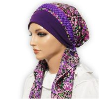 Purple Garden Polyester Braided Tirm 03
