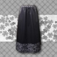 black border skirt