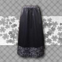 black border skirt
