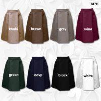 Fabric Side Gathered 4-Panel Skirt 1