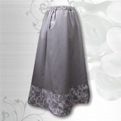 border print skirt