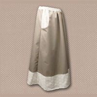 Tan Floral Border Print Pocket Skirt 02