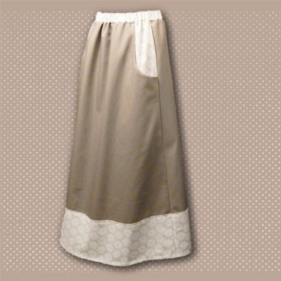 tan border skirt