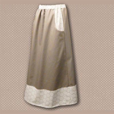 tan border skirt